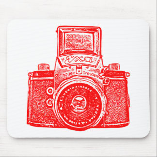 Giant East German Camera - Red Mouse Pad