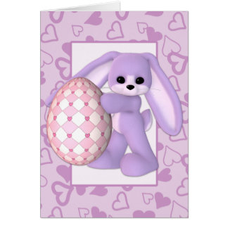 Giant Easter Egg And Easter Bunny Card