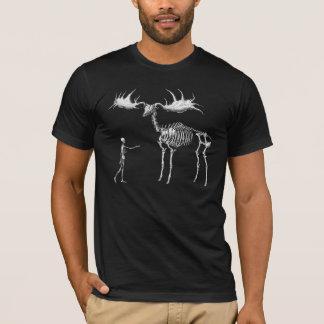 Giant Elk Skeleton w/Man T-Shirt