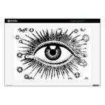 "Giant Eye Eyeball Mystic All Seeing Watches You 15"" Laptop Skin"