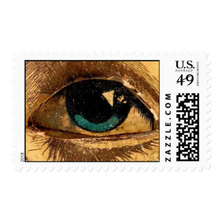 Giant Eye Eyeball Watching You ICU I See You Postage