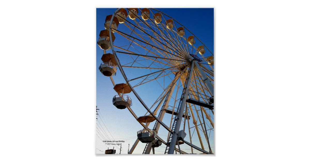 Giant Ferris Wheel State Fair Carnival Ride Photo Poster