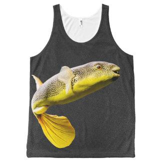 Giant Freshwater Puffer Fish (Tetraodon mbu) All-Over Print Tank Top