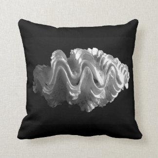 Giant Frilled Clam Seashell Tridacna squamosa Throw Pillow