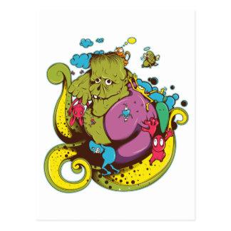 Giant Frogy Franky Postcard