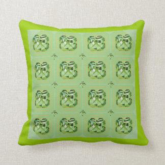 Giant Gem Pillow- green Throw Pillow