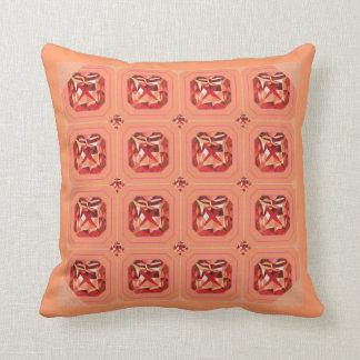 Giant Gem Pillow-orange Throw Pillow