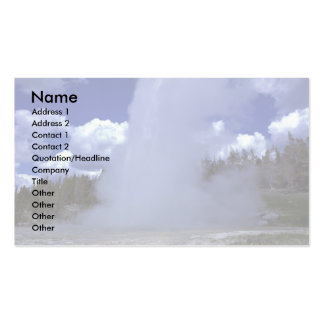 Giant Geyser, Yellowstone National Park Business Card Template