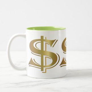 Giant Golden Dollar Sign Coffee Mug