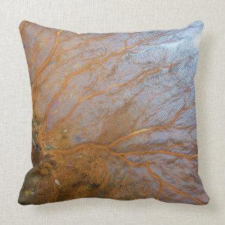 Giant gorgonian sea fan (Plexauridae sp.) Throw Pillow