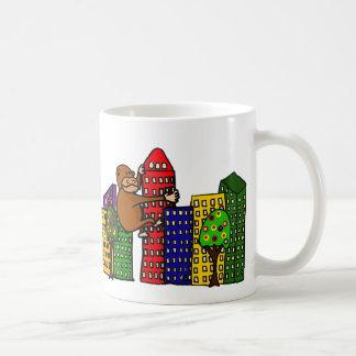 Giant Gorilla Hugging Tall Building Coffee Mug