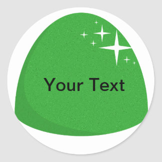 Giant Green Gumdrop Sticker Candy Buffet Label