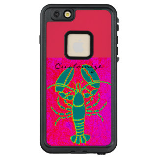 giant green lobster Thunder_Cove pink LifeProof FRĒ iPhone 6/6s Plus Case