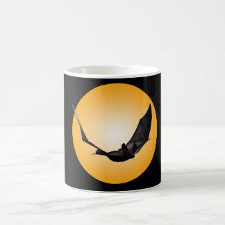 Giant Halloween Bat Flying over full Moon Mug