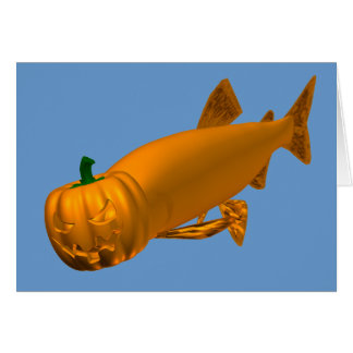 Giant Halloween Trout Card