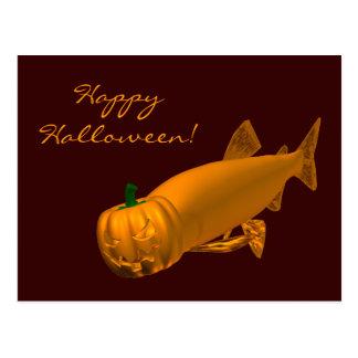 Giant Halloween Trout Postcard