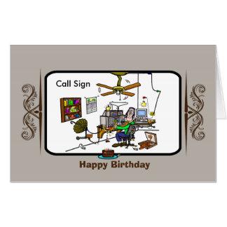 Giant Ham Radio Birthday Card  - Customize It!