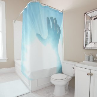 Fun Hand Underwater Print Shower Curtain