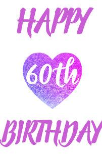 Giant Heart 60th Birthday Card