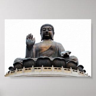 Giant Hong Kong sitting Buddha Poster
