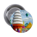 Giant Ice Cream Cone Carnival Landscape Pinback Buttons