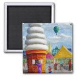 Giant Ice Cream Cone Carnival Landscape Refrigerator Magnets