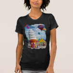 Giant Ice Cream Cone Carnival Landscape Tee Shirts