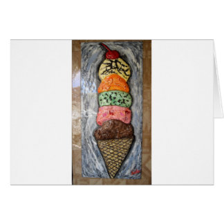 GIANT ICE CREAM CONE PAINTING SCOOPS 4 ART LOVERS CARD