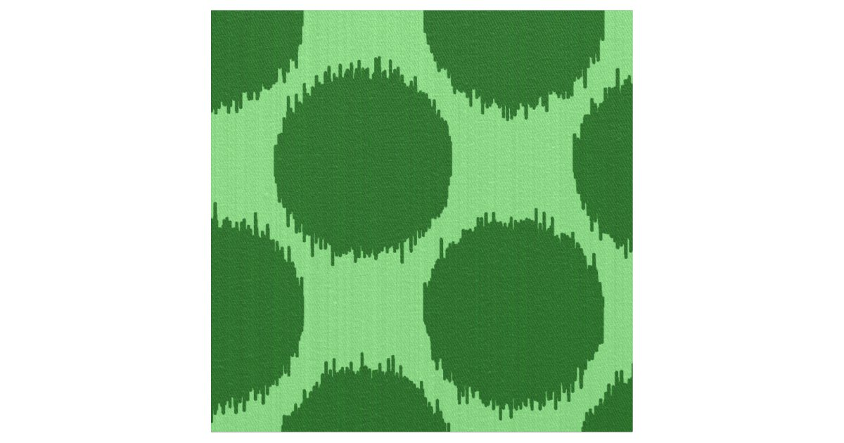 Giant Ikat Dots Lime And Emerald Green Fabric Zazzle Com
