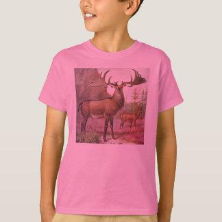Giant Irish Deer Prehistoric Animals Antique Print T-Shirt