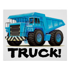 Giant Kids Custom Construction Dumper Truck Poster