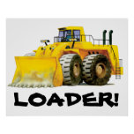 Giant Kids Yellow Digger Construction Truck Poster
