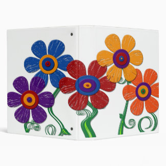 giant leather look flowers binder