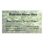 Giant Leaves Jungle View Plant Photograph Business Card Template