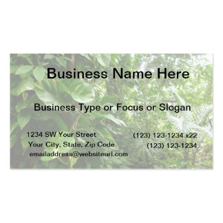 Giant Leaves Jungle View Plant Photograph Double-Sided Standard Business Cards (Pack Of 100)