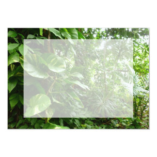 Giant Leaves Jungle View Plant Photograph 5x7 Paper Invitation Card