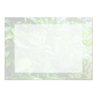 Giant Leaves Wash Out Jungle View 5x7 Paper Invitation Card
