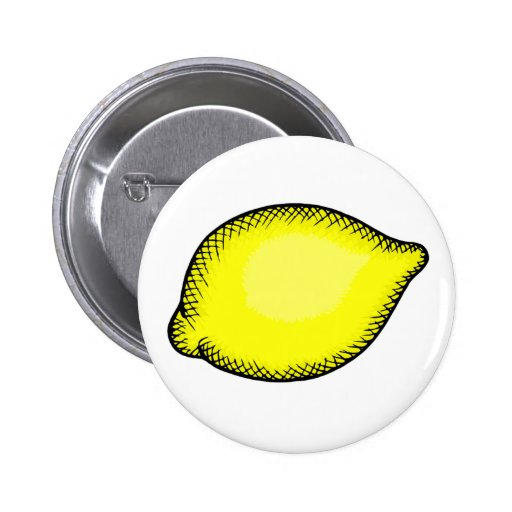 Giant lemon pinback button zazzle for Lemon button
