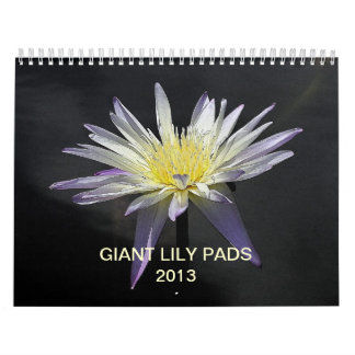 Giant Lily Pads 2013 Calendar