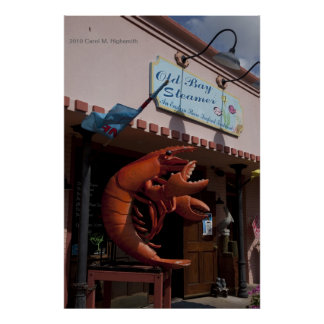 Giant lobster, seafood, Fairhope Alabama Poster