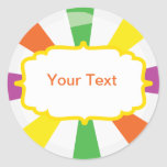 Giant lollipop candy Buffet label Classic Round Sticker