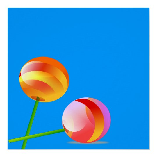 Giant Lollipops Art  Print On Canvas 4ft by 4 ft