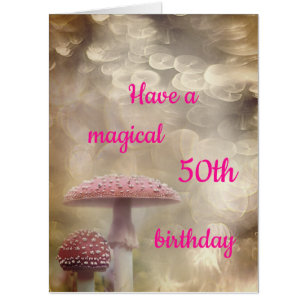 Giant Magical 50th Birthday Design Card