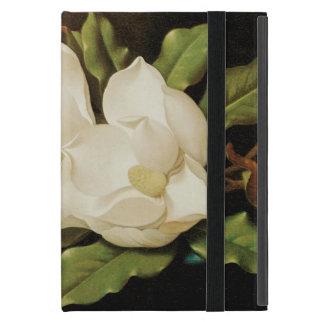 Giant Magnolias on a Blue Velvet Cloth by MJ Heade Case For iPad Mini