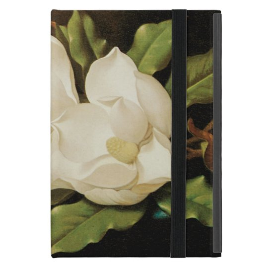 Giant Magnolias on a Blue Velvet Cloth by MJ Heade Case For iPad Mini