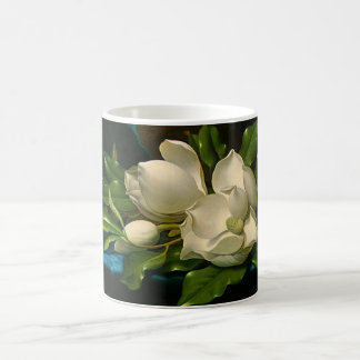 Giant Magnolias on a Blue Velvet Cloth Mug