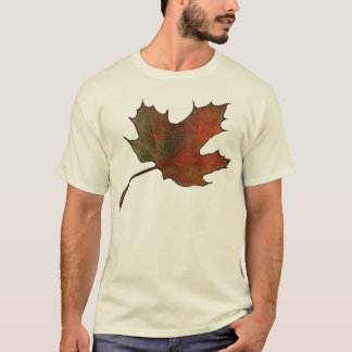 Giant Maple Leaf: Ink and Color Pencil Art. T-Shirt