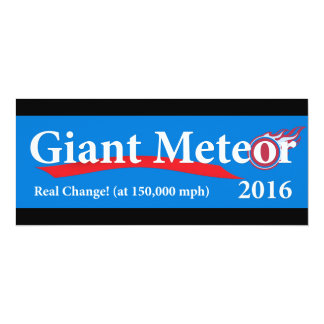 Giant Meteor 2016 Real Change at 150,000 mph Card