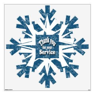 Giant Military  snowflake decal Wall Skin