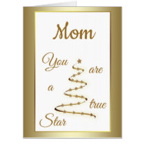 Giant Mom Birthday luxury modern design Card